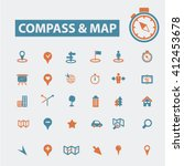 compass map icons    Shutterstock .eps vector #412453678
