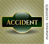accident gold emblem | Shutterstock .eps vector #412453870