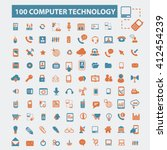 computer technology icons  | Shutterstock .eps vector #412454239