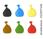 separate garbage bags for waste ... | Shutterstock .eps vector #412457146