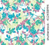 pop botanical pattern seamless... | Shutterstock .eps vector #412458994