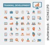 training development icons  | Shutterstock .eps vector #412461193