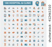 hospital clinic icons  | Shutterstock .eps vector #412461310