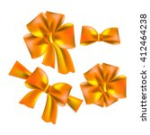 orange bow. vector   Shutterstock .eps vector #412464238