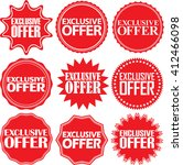 exclusive offer red label....   Shutterstock .eps vector #412466098