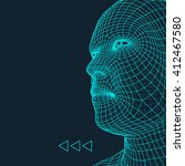 head of the person from a 3d... | Shutterstock .eps vector #412467580