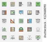 mathematics icons set   vector... | Shutterstock .eps vector #412468090
