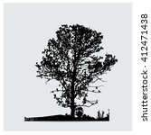 vector tree silhouettes | Shutterstock .eps vector #412471438