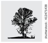 vector tree silhouettes | Shutterstock .eps vector #412471438