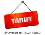 tariff  3d rendering  vintage...