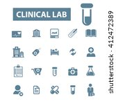 clinical lab icons  | Shutterstock .eps vector #412472389