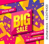 big sale banner template design | Shutterstock .eps vector #412474420