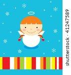 little angel girl greeting | Shutterstock .eps vector #41247589