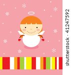 little angel girl greeting | Shutterstock .eps vector #41247592