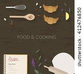 vector cooking time... | Shutterstock .eps vector #412476850