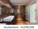 interiors of new apartment ... | Shutterstock . vector #412481308