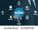 regulations technology... | Shutterstock . vector #412485760