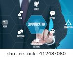 communication technology... | Shutterstock . vector #412487080