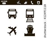 transport icons set ... | Shutterstock .eps vector #412491118