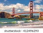 golden gate bridge in san... | Shutterstock . vector #412496293