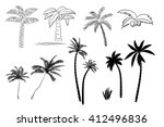 collection of images of palm... | Shutterstock .eps vector #412496836