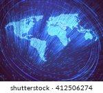 optical fibers lit in the shape ... | Shutterstock . vector #412506274
