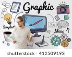 graphic visual art creative... | Shutterstock . vector #412509193