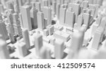 abstract city 3d rendering... | Shutterstock . vector #412509574