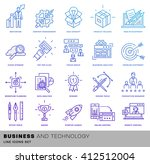 thin line icons set. business... | Shutterstock .eps vector #412512004