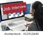 job interview employment human... | Shutterstock . vector #412512640