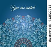 blue vector invitation with... | Shutterstock .eps vector #412527718