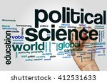 political science word cloud... | Shutterstock . vector #412531633