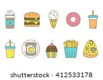 food line icons. vector... | Shutterstock .eps vector #412533178