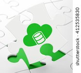 software concept  database with ... | Shutterstock . vector #412535830