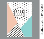 modern clean book cover  poster ... | Shutterstock .eps vector #412550380