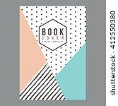 modern clean book cover  poster ... | Shutterstock .eps vector #412550380