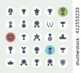 award icon set.vector black... | Shutterstock .eps vector #412553233