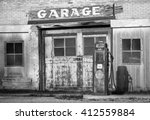 old garage in rural utah in... | Shutterstock . vector #412559884