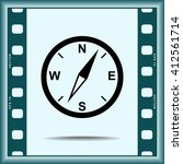 compass sign icon  vector... | Shutterstock .eps vector #412561714