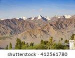 himalayan landscape in... | Shutterstock . vector #412561780