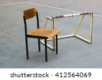 the chair and football goal | Shutterstock . vector #412564069