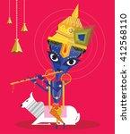 lord krishna 2   Shutterstock .eps vector #412568110