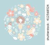 vector illustration  floral... | Shutterstock .eps vector #412568524