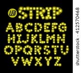 led ribbon strip light alphabet ... | Shutterstock .eps vector #412570468