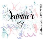 enjoy summer. summer background ... | Shutterstock .eps vector #412571980