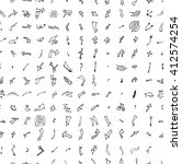 hand drawn doodle seamless... | Shutterstock .eps vector #412574254