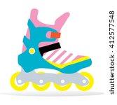 roller skating. modern girl... | Shutterstock .eps vector #412577548