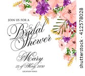 invitation cards with... | Shutterstock .eps vector #412578028