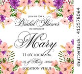 invitation cards with... | Shutterstock .eps vector #412578064