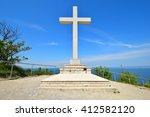 the christian cross on the... | Shutterstock . vector #412582120